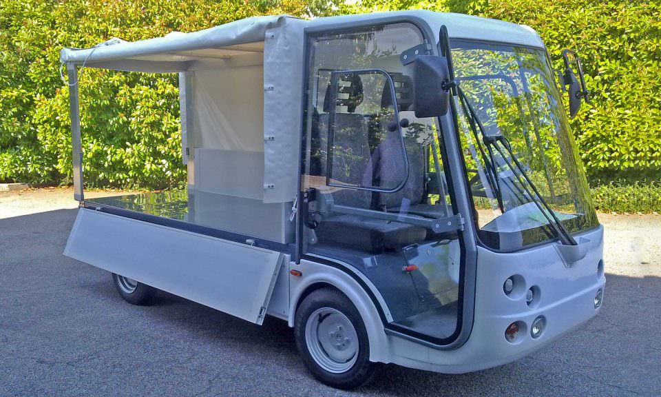 Canvas covered utility vehicle