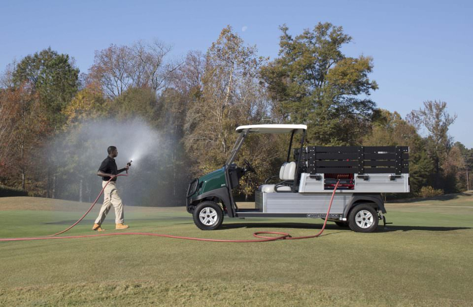 Carryall utility vehicle with water hose