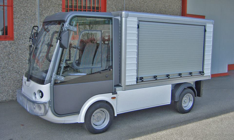 Electric Street Legal Van With Roller Sides