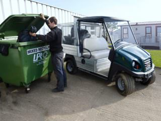 Electric Utility Vehicle with waste collection cage For Holiday Parks (Medium)