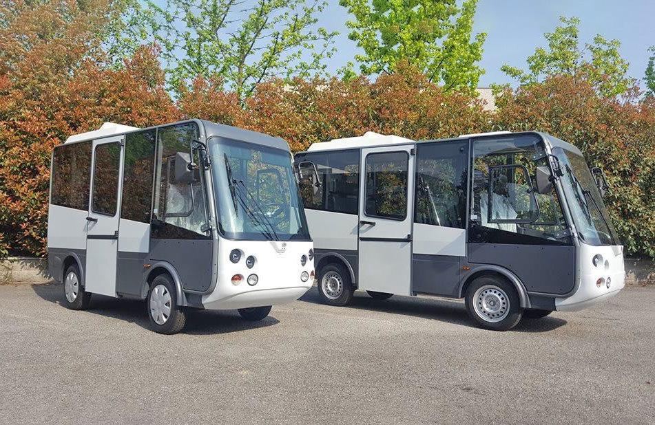 Street legal electric city centre bus