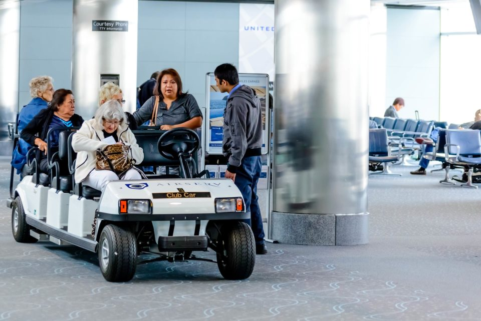Electric Airport Shuttle Buggy
